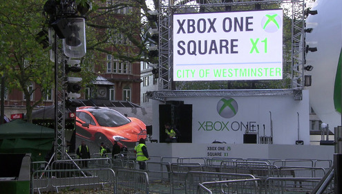 Microsoft launches the new Xbox One console at star studded Leicester Square event