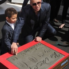 Vin Diesel Star of Furious 7 Places His Hand And Footprints At TCL Chinese Theatre IMAX