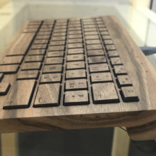 Orée introduces Essential its new iconic wireless wooden keyboard