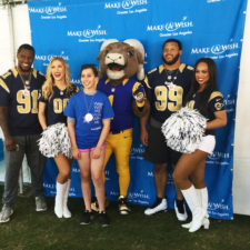 Make-A-Wish foundation, LA Rams, all come alive at the Los Angeles Coliseum